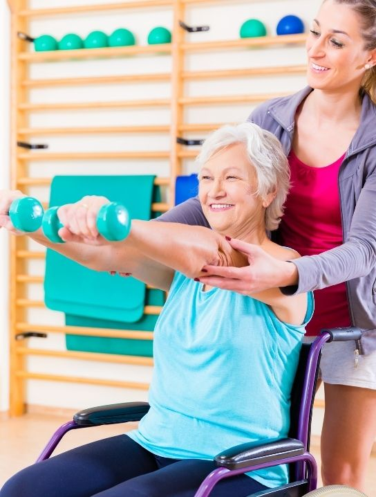 A-woman-performing-an-exercise-with-a-dumbell-image-Physical-therapy-available-at-comfort-Home-health-agency-home-care-agency-in-florida